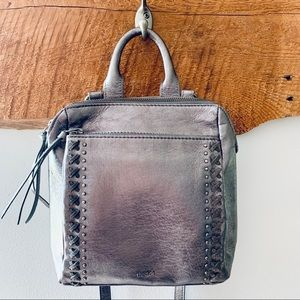 The Sak—Silver Loyola Convertible Leather Backpack